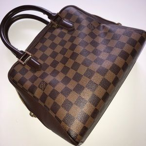 AUTHENTIC LOUIS VUITTON BRERA DAMIER EBENE HANDBAG